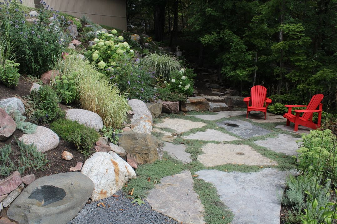 Jumbo flagstone patio